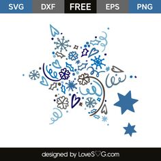 *** FREE SVG CUT FILE for Cricut, Silhouette and more *** Winter stars