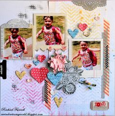 DT work for Anna's Craft Cupboard with the Pink Paislee - Secret Crush range