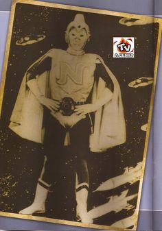 """NACIONAL KID (NATIONAL KID, ナショナルキッド, Nashônaru Kiddo) - 1ª Série nipônica com Super-Herói, criada em 1960, com a finalidade de servir de merchandising para a fábrica de eletrodomésticos National Electronics Inc., atual Panasonic. """"Mais veloz que o jato, mais duro que o aço, super-homem invencível, cavaleiro da paz e da justiça, Nacional kid!"""" EMERSON CAMARGO foi o dublador nas duas fases lançadas no Basil p/ a TV, a da época desua estréia nos anos 60, e lançada em VHS e DVD na era digital."""