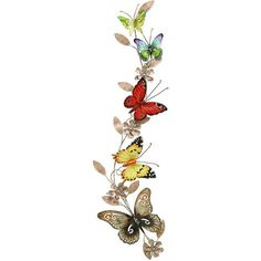 Colorful Butterflies Wall Sculpture (190 BRL) ❤ liked on Polyvore featuring home, home decor, butterflies, flowers, filler, butterfly home decor, home decorators collection, iron home decor and colorful home decor