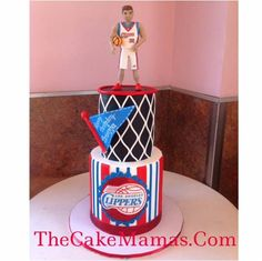 #Clippers cake by @thecakemamas