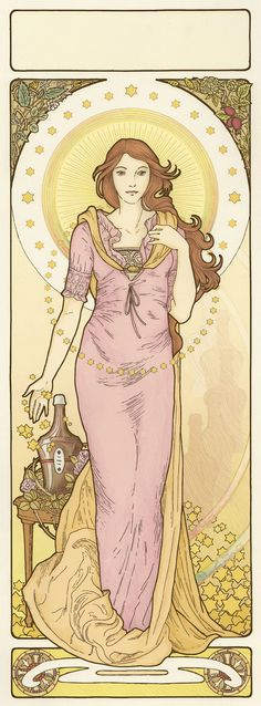 Art Nouveau Affiche by XIXDeviant on deviantART