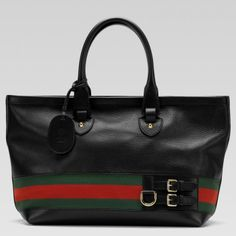 """Gucci bags and Gucci handbags 247574 A7MAG 1060 """"gucci heritage"""" large tote with signature web $270"""