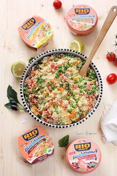 Salata cu couscous si ton, reteta de vara delicioasa si simplu de facut. Invata cum se prepara o salata cu ton, legume si couscous. Couscous, Cooking Recipes, Healthy Recipes, Pasta Salad, Food To Make, Salads, Good Food, Vegan, Meals