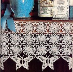 ergahandmade: Crochet Butterfly Border + Diagram + Free Pattern