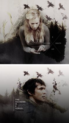 """I am become death... Destroyer of worlds."" Clarke and Bellamy - The 100"