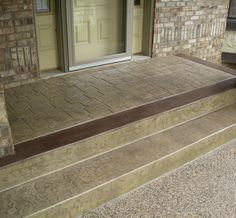 stamped concrete entryways - Google Search