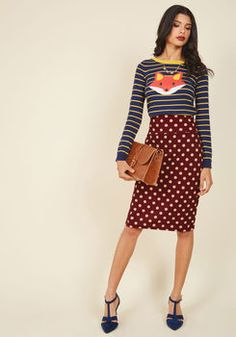 Sought-After Author Pencil Skirt