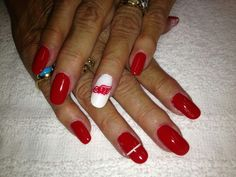 Detroit red wings by algaeveronica nail nails nailart nails red wings nail art prinsesfo Choice Image