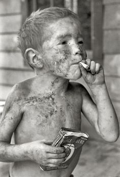Leatherwood Kentucky 1964. Children were told smoking was good for them. My asthmatic mother was introduced to cigarettes by the family doctor.
