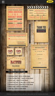 My Free goodies, software via like n share on http://www.amit.gallery , Else From Pinterest Vintage Movie Maker Wedding Invitation Package - Weddings…