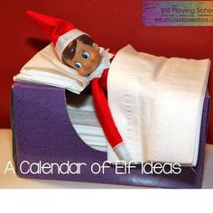 Still Playing School: A Month of Elf on the Shelf Ideas - Buddy The Elf Christmas Activities, Christmas Traditions, L Elf, Awesome Elf On The Shelf Ideas, Elf On The Shelf Ideas For Toddlers, Little Mac, Elf On The Self, Naughty Elf, Buddy The Elf