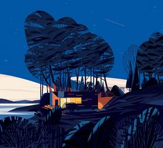 Stunning Modern Cabins and Hideouts in a New Book | Illustrator: TBD . Illustrations : Marie-Laure Cruschi