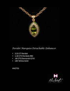 HN2733 Peridot Marquise Pendant Enhancer