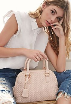 (SO CUTE!! I love all of the colors!) Faux Leather Dome Satchel   FOREVER21 - 1000116463