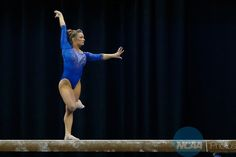 16 APR 2016: Bridget Sloan (264) of the University of Florida performs on the balance beam during the Division I Women's Gymnastics Championship held at the Fort Worth Convention Center in Fort Worth, TX. Oklahoma won the title. Tim Heitman/NCAA Photos