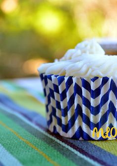 Navy Blue Chevron Cupcake Liners  Set of 40  by MyLittleOtter, $3.15