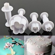 2016 Hot Sale Special Offer 4pcs Plum Blossom Spring Die Sugar Cakes Baked Plastic Utensils Modeling Tools, Kitchen Gadgets A055