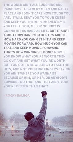 Here is Rocky Quote Collection for you. Rocky Quote details about rocky balboa boxing inspirational. Rocky Quote keep moving forward rocky Rocky Quotes, Rocky Balboa Quotes, Morning Motivation, Fitness Motivation, Work Motivation, Muay Thai, Sylvester Stallone Quotes, Ju Jitsu, Famous Movie Quotes