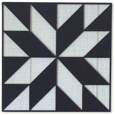 Black LeMoyne Star Steel Barn Quilt