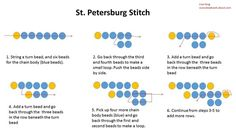 St Petersburg Bead Stitch Diagram Instructions