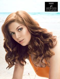 Summer Breeze is a Pret-a-Porter look inspired by beach waves with big wavy hair flowing down until just below the shoulder and blown by cool ocean breeze, dyed in in copper tones by using Makarizo Concept Ultimax coloring product as if the hair has been sun-kissed;