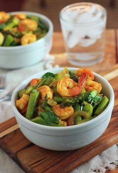 Burmese Shrimp and Asparagus