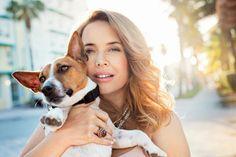 Жанна Фриске со своей собачкой Jeanna Friske with her dog