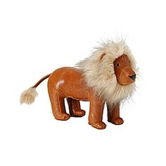 Menagerie Bookend - Lion  A fun update to ordinary (a.k.a. boring) bookends, this regal lion adds playful personality to the nursery or big-kid room. It's covered in faux leather that's super-soft and smooth. Weighted to keep most heavy books in place, it also makes a great doorstop.@ serensandlily