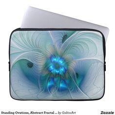 Standing Ovations, Abstract Fractal Art Laptop Computer Sleeve
