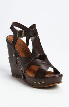 SIXTYSEVEN '72019' T-Strap Wedge Sandal available at #Nordstrom