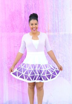 DIY Geometric ColorShot Skirt | iLoveToCreate