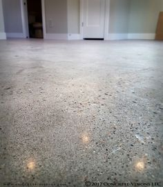 Polished concrete is a durable, beautiful, and low maintenance residential flooring option that is growing in popularity! The glossy shine will also enhance natural light reflectivity! Call us today to discuss your project. Concrete Interiors, Concrete Furniture, Bench Furniture, Urban Furniture, Countertop Materials, Concrete Countertops, Concrete Floors, Kitchen Countertops, Concrete Coatings
