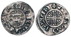 This English Medieval Penny was minted during the time of King John and bears his likeness. 12 pennies made up a schilling and 240 of them made up a pound.   King John