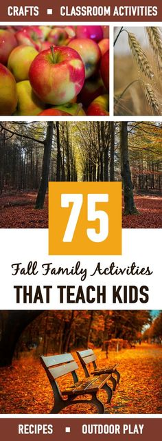 75 AMAZING fall family activities master list that teach. I love having this master list of activities to choose from! There's everything from activities, crafts, recipes and outdoor fun. Fall Preschool Activities, Classroom Activities, Family Activities, Outdoor Activities, Teaching Activities, Classroom Fun, Summer Activities, Easy Fall Crafts, Thanksgiving Crafts For Kids