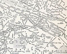 Map of Paris (1937).