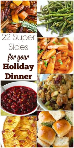 Turkey may be the main event, but side dishes are just as important. Check out this collection of delicious sides for your Thanksgiving or Christmas dinner.