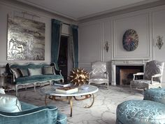 Love this look, Modern Parisian, if only wood was dark and colors a bit darker too.