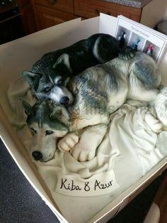Husky Dog Cake Topper
