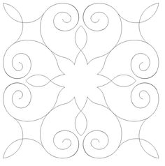 Nice quilting pattern to fill a block Quilting Stencils, Quilting Templates, Stencil Patterns, Quilting Tutorials, Quilting Projects, Quilting Ideas, Quilting Stitch Patterns, Machine Quilting Patterns, Quilt Stitching