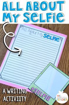 All About My Selfie- cute and easy writing activity for back to school! back to school cupcakes, back to school homework, back to school bash ideas Fun Writing Activities, All About Me Activities, First Day Of School Activities, Writing Lessons, Sensory Activities, September Activities, Spring Activities, Educational Activities, Public School