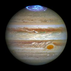 Photo: Latest News: Astronomers are using NASA's Hubble Space Telescope to study auroras — stunning light shows in a planet's atmosphere — on the poles of the largest planet in the solar system, Jupiter. This observation program is supported by measurements made by NASA's Juno spacecraft, currently on its way to Jupiter.  Jupiter, the largest planet in the solar system, is best known for its colorful storms, the most famous being the Great Red Spot. Now astronomers have focused on another…