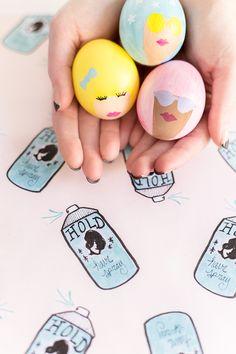 DIY Bouffant Easter Eggs