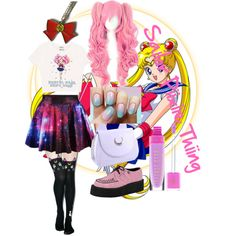 Sailor Moon Casual by kiss-my-bruise on Polyvore featuring polyvore fashion style Spree Picky T.U.K. Episode