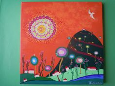 Tamara Kusovac. acrylic on canvas, Sun collection. Ciklus Sunce, akril na platnu