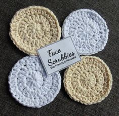 Face Scrubbies Make Up Removal Pads Eco Friendly Facial Handmade Gifts For Her, Spa Gifts, Crochet Round, Facial Care, Craft Fairs, Christmas Stockings, Eco Friendly, Make Up, Face