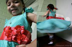 Olivia pig dress detail and test drive  Cumpleaños de Adriana -El Vestido | keniaGuisela