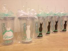 Quantity 6 Bridal Party gift Personalized acrylic tumbler 16oz w/ lid and straw - Bridesmaid, bride, Flower girl dress, name or monogram on Etsy, $66.00