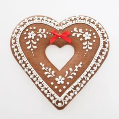 Scandinavian Heart cookie.  Special gingerbread cookie for a special person.  intricate icing