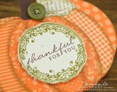 Die cut pumpkin card - PTI